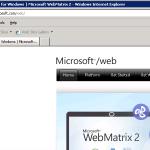 Ilustración 2 – Página de Microsoft Web Plataform