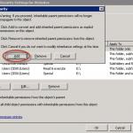 """Permisos de Websites: mantenemos los permisos actuales haciendo clic en """"Add""""."""
