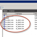 Creación de Usuarios para IIS.
