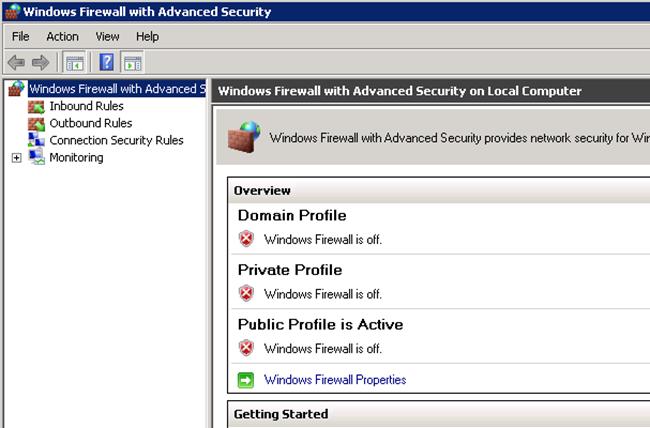Firewall Deshabilitado
