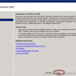 Asistente para agregar el rol IIS en Windows Server 2008 R2.