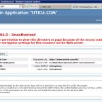 Error en IIS 7.5 al no ingresar el usuario para Anonymous Authentication.