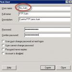 Creación de cuenta FTP para Juan.