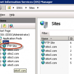 Sitio FTP creado en IIS 7.5.