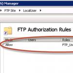 Permisos para LocalUser en el FTP de IIS 7.5.