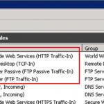 Reglas de Firewall necesarias.