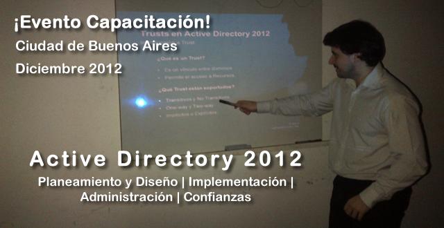 EVENTO - Capacitación en Active Directory 2012