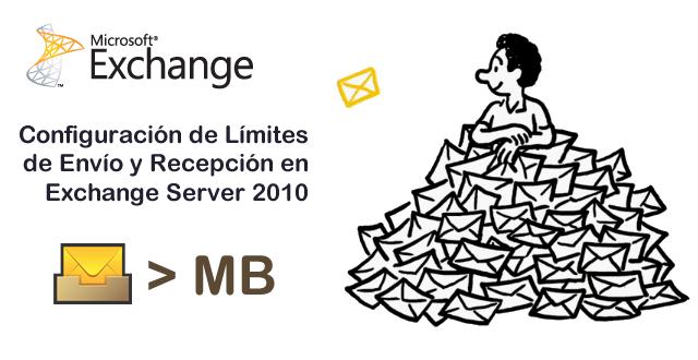 Exchange 2010 Configuración de Límites de Tamaño en Envío y Recepción