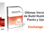Exchange Server 2007 - Build Numbers, Service Packs y Update Rollups