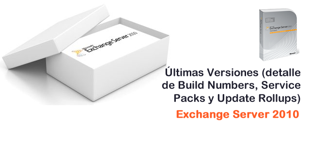 Exchange Server 2010 - Build Numbers, Service Packs y Update Rollups