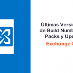 Exchange Server 2013 - Build Numbers, Service Packs y Update Rollups
