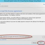 Ilustración 15 - Asistente de Instalación de System Center Virtual Machine Manager 2012 SP1.
