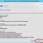Ilustración 24 - Asistente de Instalación de System Center Virtual Machine Manager 2012 SP1.