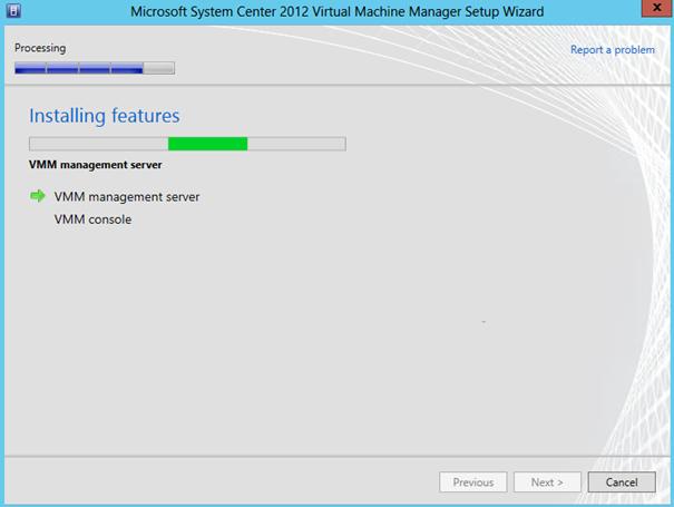 Ilustración 25 - Asistente de Instalación de System Center Virtual Machine Manager 2012 SP1.