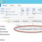 Ilustración 4 – Archivo resultante del Backup del System Center Virtual Machine Manager 2012 SP1.