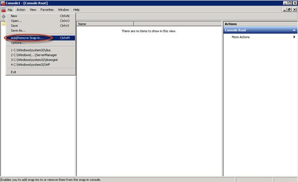 Ilustración 11 - Microsoft Management Console (MMC) para transferir rol Schema Master.