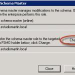 Ilustración 14 - Microsoft Management Console (MMC) para transferir rol Schema Master.