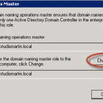 Ilustración 20 - Active Directory Domains and Trusts para transferir rol de Domain Naming.