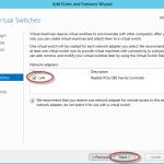 Ilustración 11 – Asistente para Instalación de Rol Hyper-V en Windows Server 2012. Configuración de Virtual Switch.