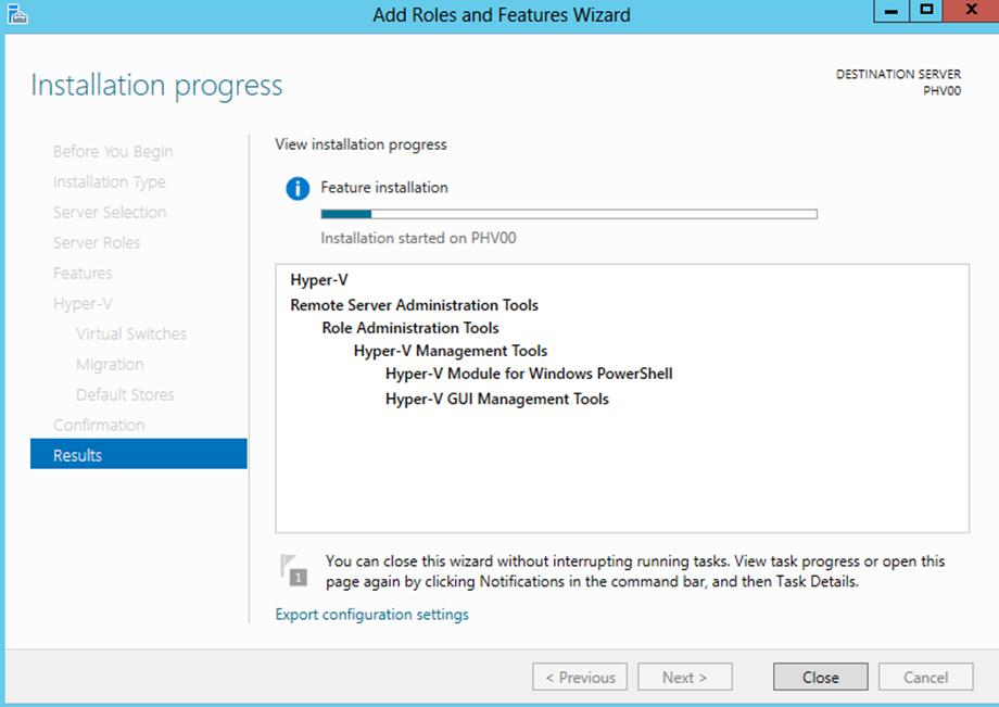 Ilustración 14 – Asistente para Instalación de Rol Hyper-V en Windows Server 2012.