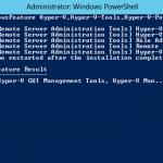 Ilustración 21 – Windows PowerShell para la instalación de Hyper-V.