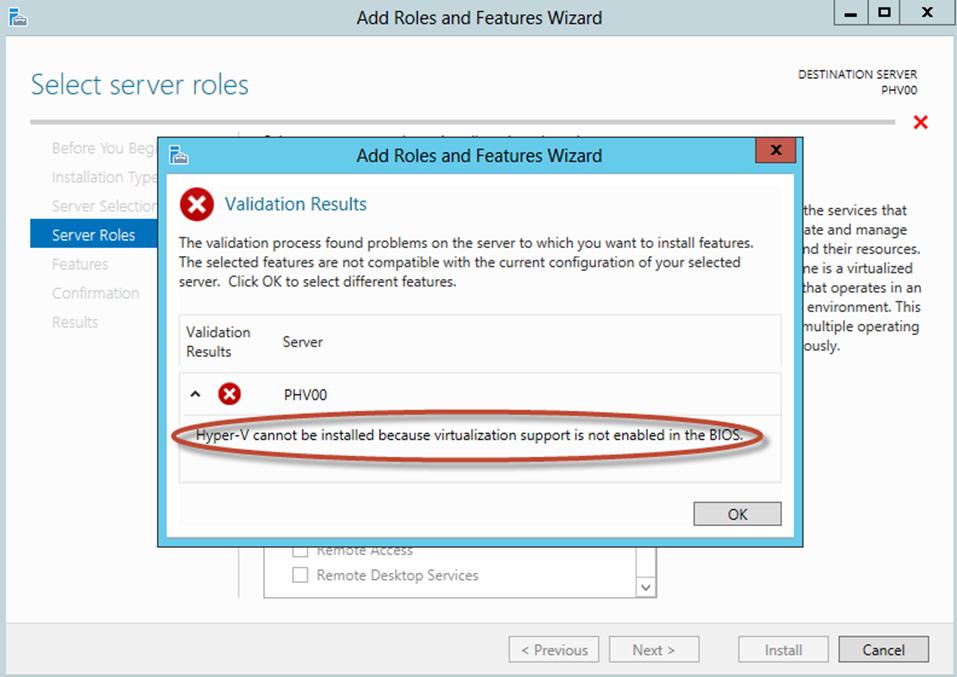 Ilustración 8 – Asistente para Instalación de Rol Hyper-V en Windows Server 2012.