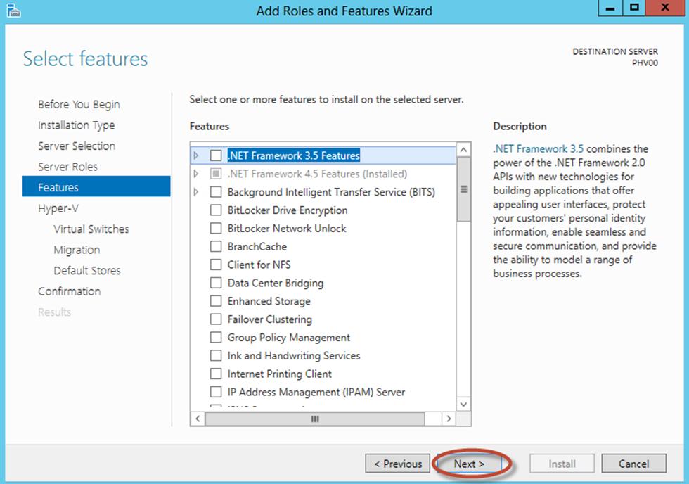 Ilustración 9 – Asistente para Instalación de Rol Hyper-V en Windows Server 2012.