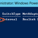Ilustración 15 – Módulo de PowerShell para Hyper-V en Windows Server 2012. Agregado de VirtualSwitch a Equipo Virtual.