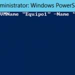 Ilustración 16 – Módulo de PowerShell para Hyper-V en Windows Server 2012. Agregado de VirtualSwitch a Equipo Virtual.