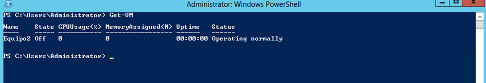Ilustración 25 – Módulo de PowerShell para Hyper-V en Windows Server 2012. Eliminación de Equipo Virtual.