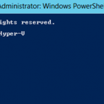 Ilustración 3 – Windows PowerShell para Administrar Hyper-V en Windows Server 2012. Actualización de la ayuda.