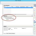 Ilustración 31 – Módulo de PowerShell para Hyper-V en Windows Server 2012. Restauración de Snapshots en Equipos Virtuales.