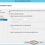 Ilustración 10 – Hyper-V Manager en Windows Server 2012. Creación de un equipo virtual.