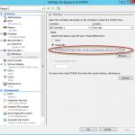 Ilustración 16 – Hyper-V Manager en Windows Server 2012. Modificación (edición) de un equipo virtual: modificación de DVD Drive.