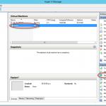 Ilustración 19 – Hyper-V Manager en Windows Server 2012. Encendido de un Equipo Virtual.