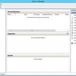 Ilustración 2 – Hyper-V Manager en Windows Server 2012. Acceso a la consola.