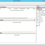 Ilustración 3 – Hyper-V Manager en Windows Server 2012. Creación de un equipo virtual.