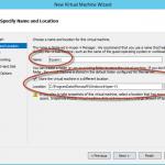 Ilustración 5 – Hyper-V Manager en Windows Server 2012. Creación de un equipo virtual.