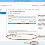 Ilustración 5 – Asistente para Agregar Roles o Características de Windows Server 2012: selección de virtual hard disk para instalación offline de roles (offline servicing).