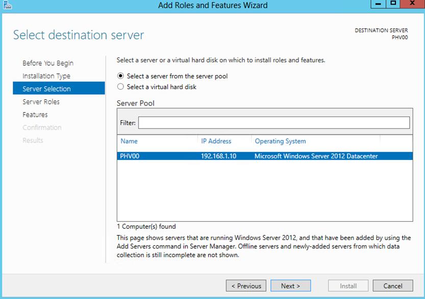 Ilustración 3 – Agregar Roles y Features de Windows Server 2012: Asistente para instalación de iSCSI Target Server.