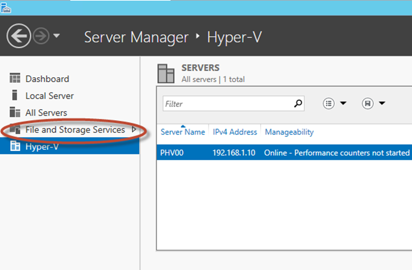Ilustración 8 – Server Manager para administrar iSCSI Target Server.