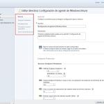 Ilustración 11 - Consola de Administración de Windows Intune. Administración de Directivas de Agente de Windows Intune.