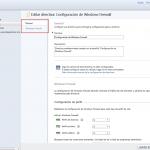 Ilustración 13 - Consola de Administración de Windows Intune. Administración de Directivas de Windows Firewall.