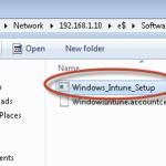 Ilustración 30 - Consola de Administración de Windows Intune. Agregado de Equipos. Instalación de Software por el Administrador.