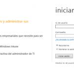 Ilustración 39 - Consola de Administración de Windows Intune. Portal de Windows Intune para la organización.
