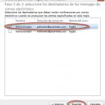 Ilustración 65 - Consola de Administración de Windows Intune. Configuración de alertas y notificaciones.