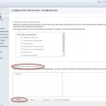 Ilustración 51 - Consola de Administración de Windows Intune. Configuración de updates y auto-aprobaciones.