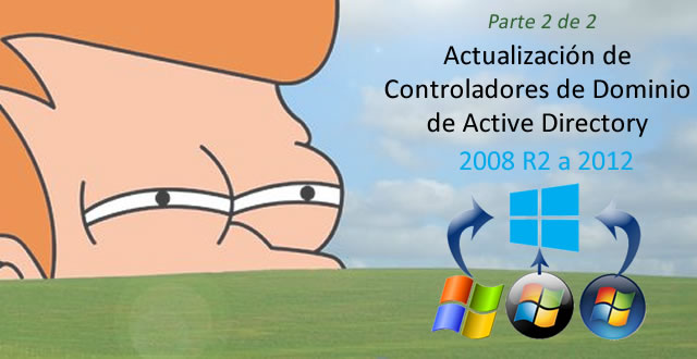 Active Directory – Actualización de Controladores de Dominio en Windows Server 2008 R2 a Windows Server 2012 – Parte 2 de 2