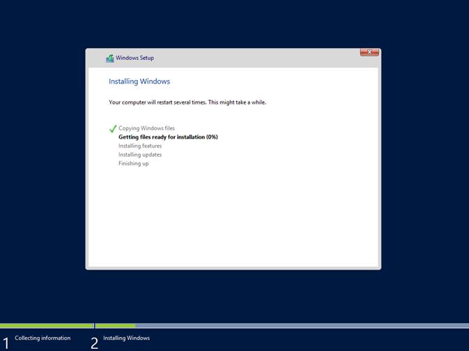 Ilustración 10 – Instalación de Windows Server 2012 R2 Preview.