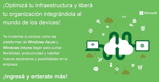 Evento 27/08/2013: Windows Azure + Windows Intune
